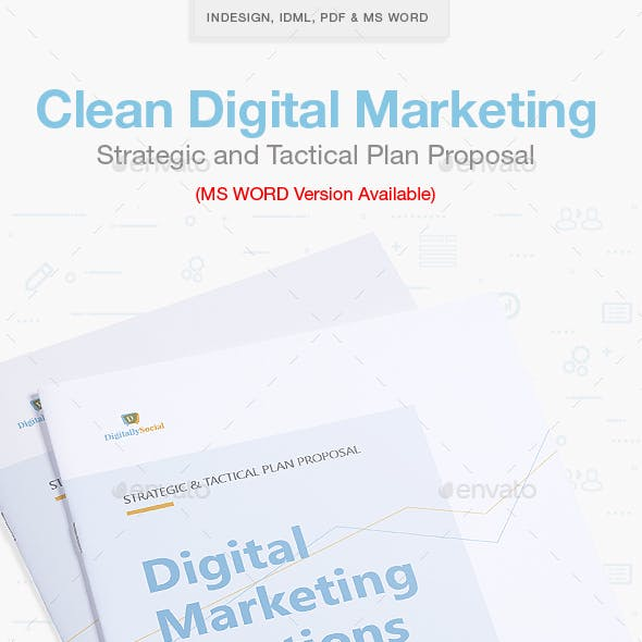 Clean Digital Marketing Proposal
