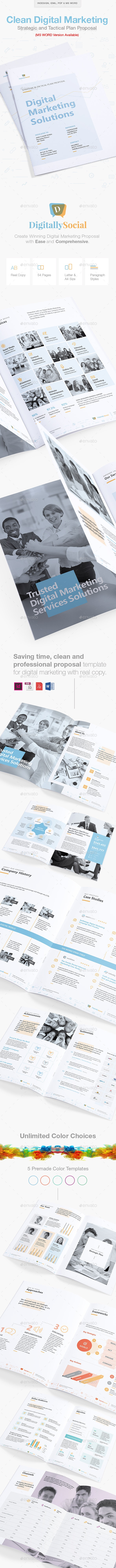 Clean Digital Marketing Proposal - Proposals & Invoices Stationery