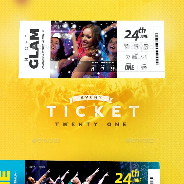 Event Tickets Template 21