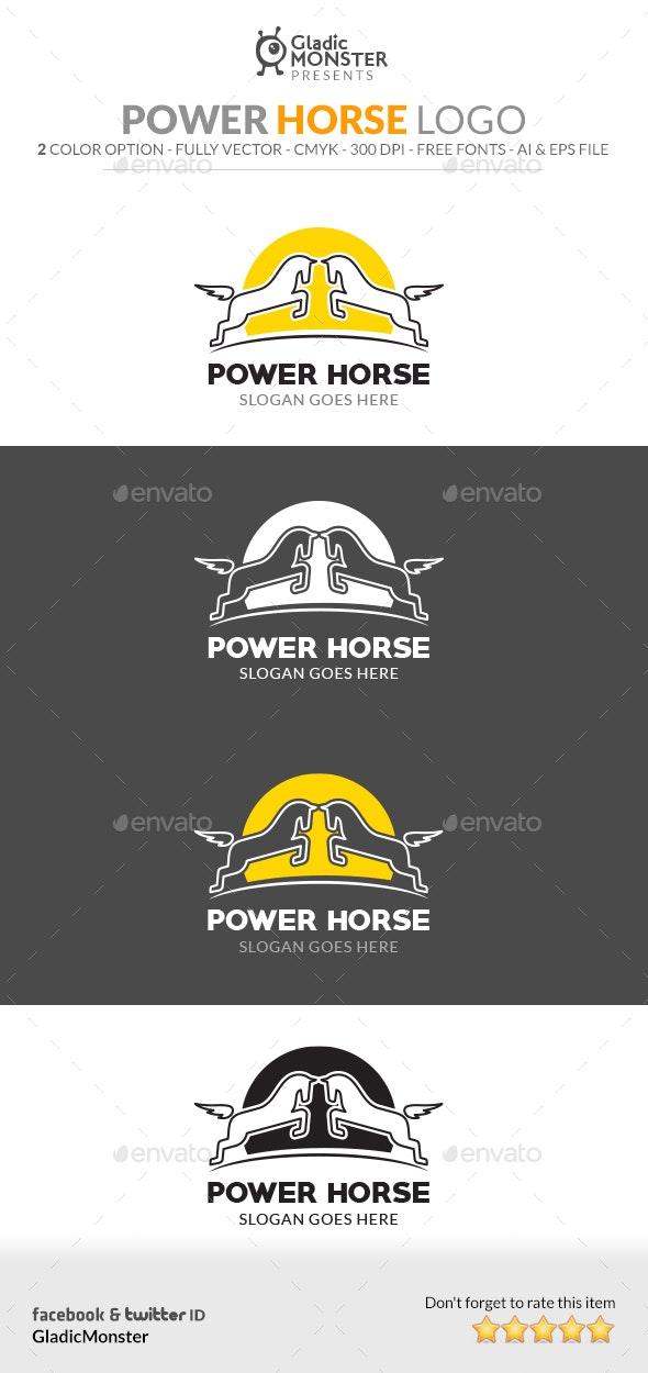 Power Horse Logo - Animals Logo Templates