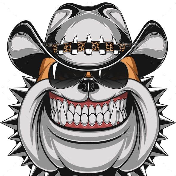 Bulldog in a Cowboy Hat