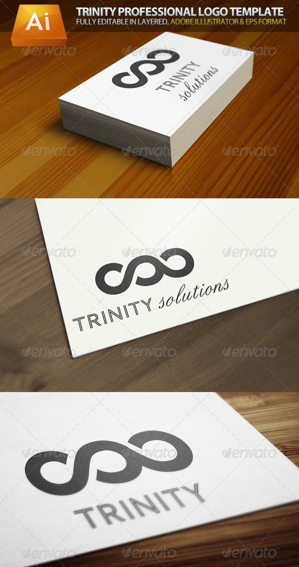 Trinity Infinity Professional Logo Template - Symbols Logo Templates