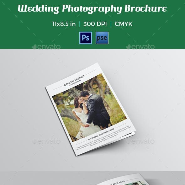 Wedding Photography Brochure Template-V010