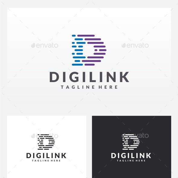 Digilink - Letter D Logo