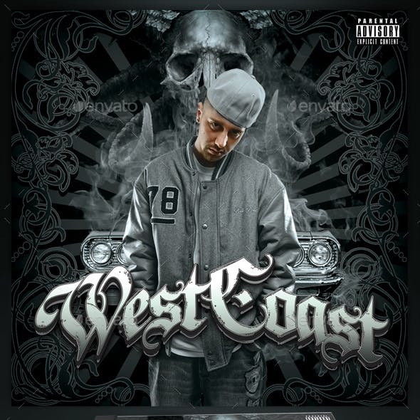 Mixtape / CD Cover Template - Westcoast
