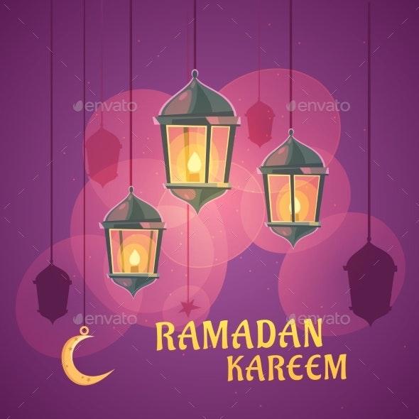 Ramadan Lanterns Illustration - Religion Conceptual