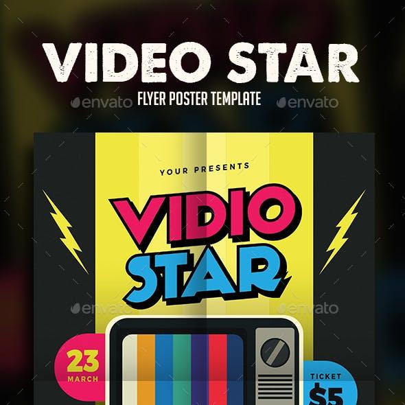 Video Star Music Flyer