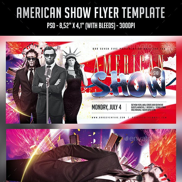 American Show Flyer Template