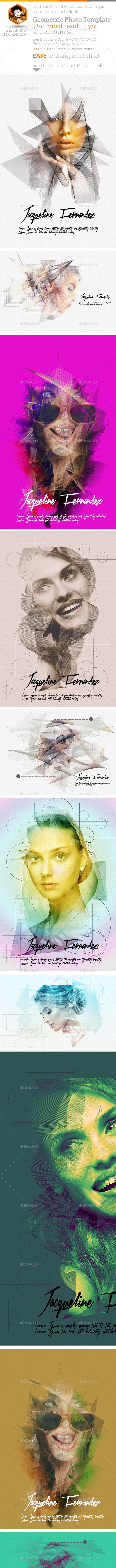 Geometric Photo Manipulation - Artistic Photo Templates