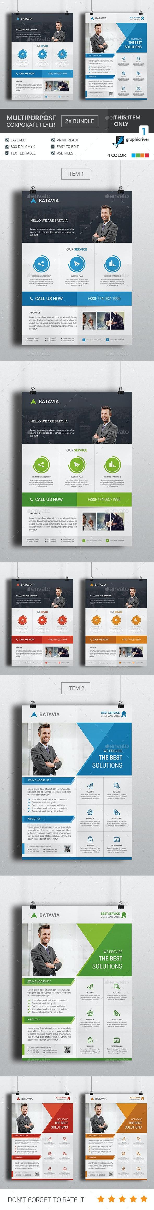 Multipurpose Corporate Flyer Bundle - Flyers Print Templates