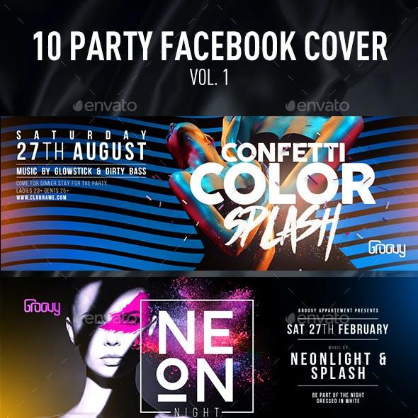 10 Party Facebook Cover Vol.1