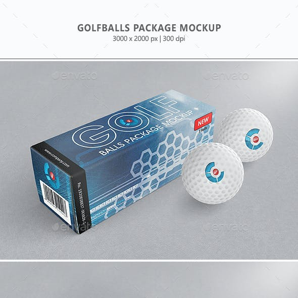 Golfballs Package Mock-up
