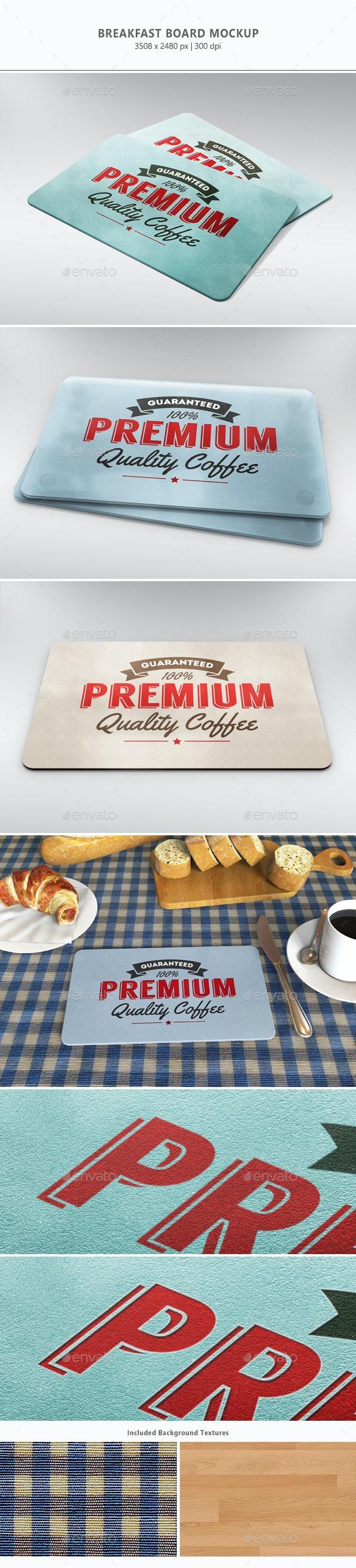 Breakfast Board Mock-up - Miscellaneous Print
