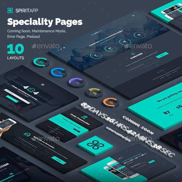 SpiritApp Speciality Pages
