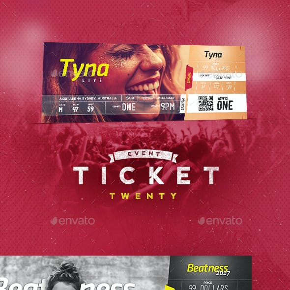 Event Tickets Template 20