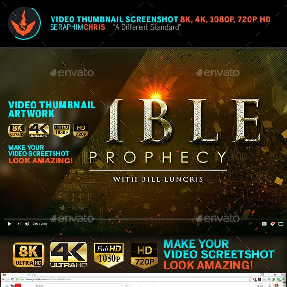 Bible Prophecy YouTube Video Thumbnail Screenshot Template