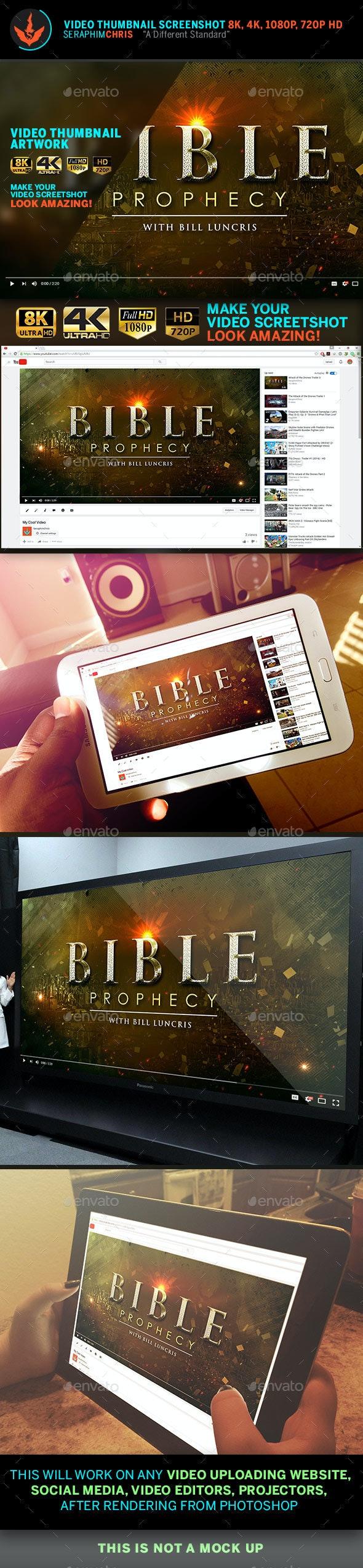 Bible Prophecy YouTube Video Thumbnail Screenshot Template - YouTube Social Media