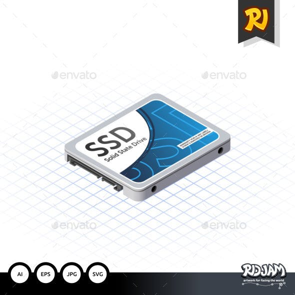 Isometric Solid State Drive