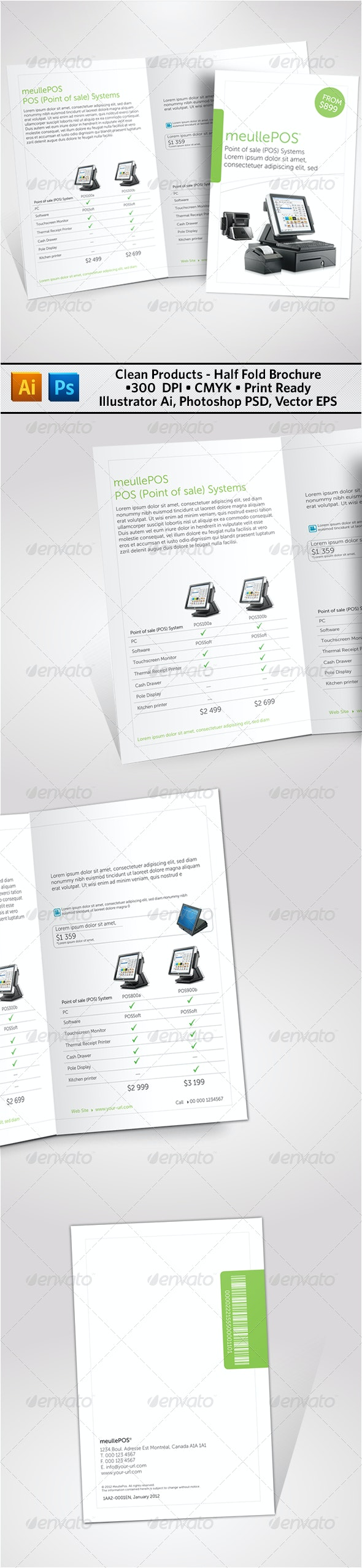 Clean Products Half Fold Brochure - Catalogs Brochures