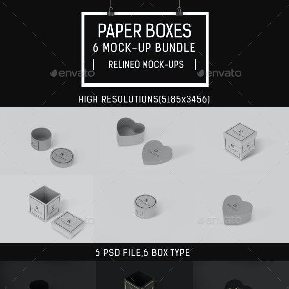 Paper Box Mock-up Bundle