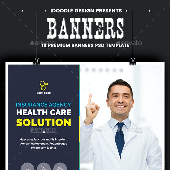 Medical Agency Banners Ads