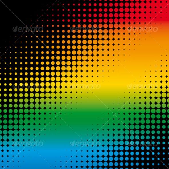 rainbow dots background