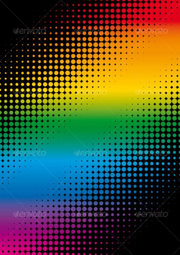 rainbow dots background - Backgrounds Decorative