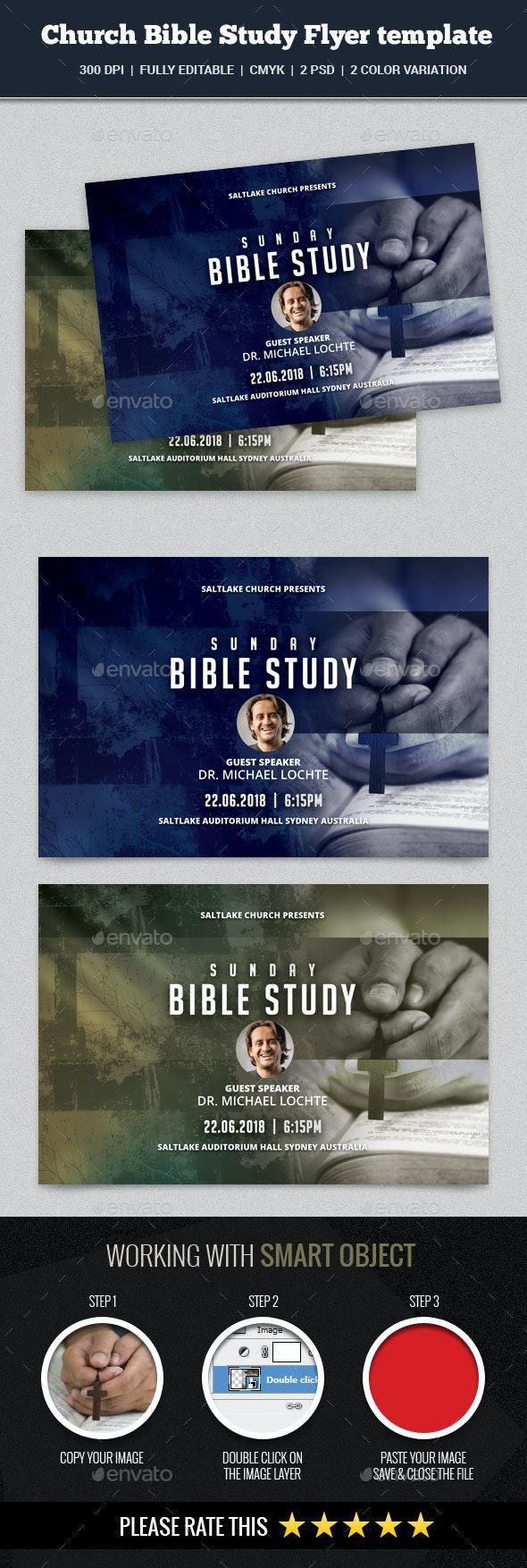 Church Bible Study Flyer - Church Flyers