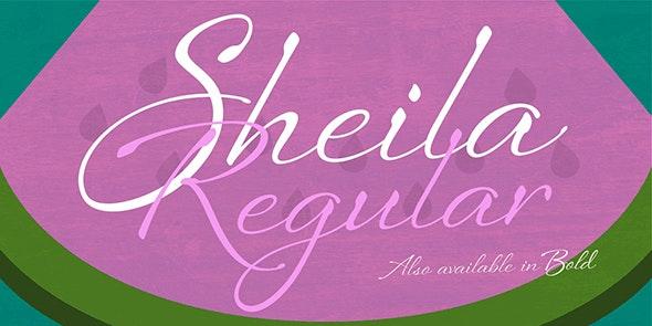 Sheila Regular - Script Fonts