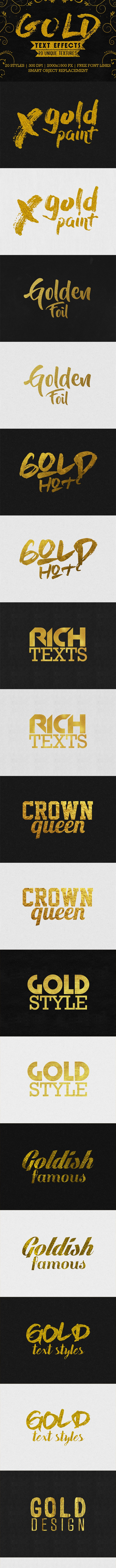 Gold Text Effects - Text Effects Actions