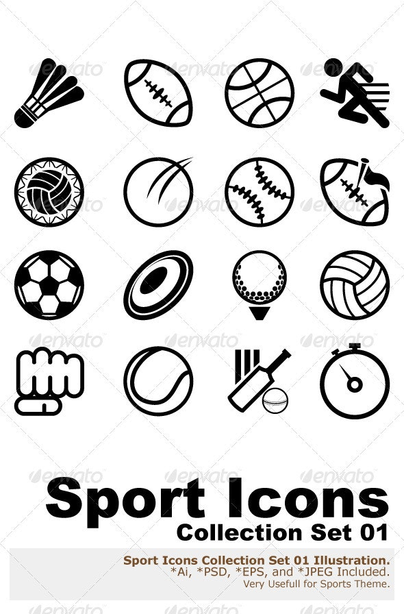 Sport Icon Set  - Sports/Activity Conceptual