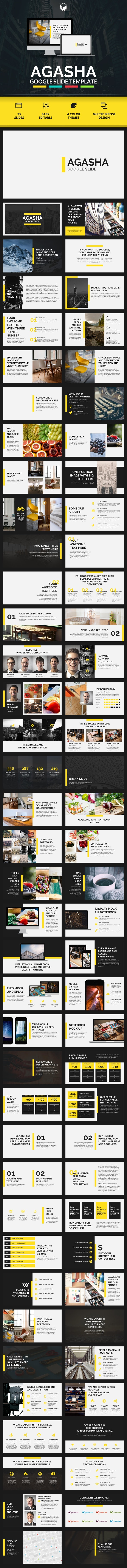 AGASHA - Google Slide Template - Google Slides Presentation Templates