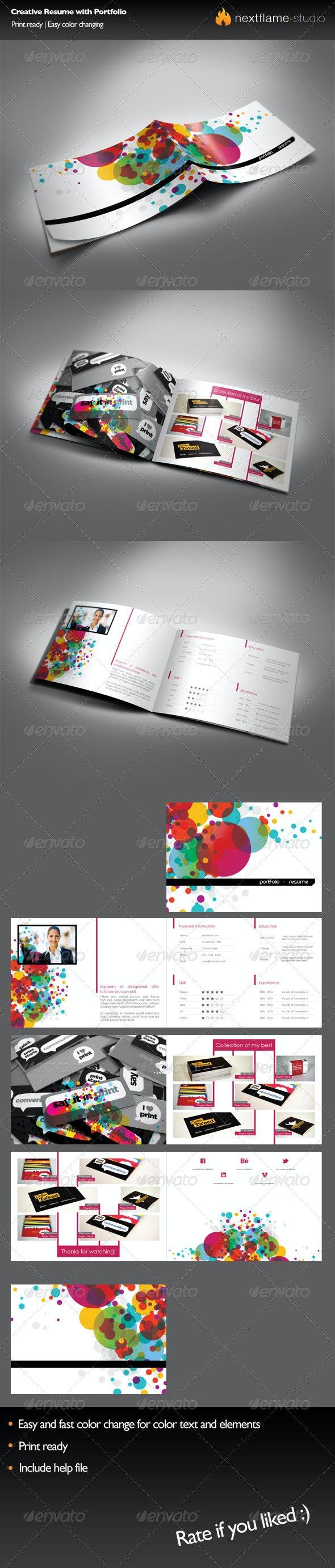 Creative Resume with Portfolio - Resumes Stationery
