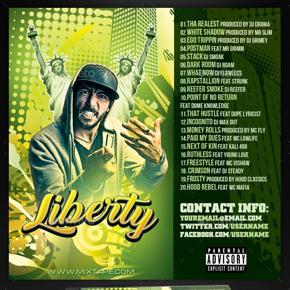 Mixtape / CD Cover Template - Liberty