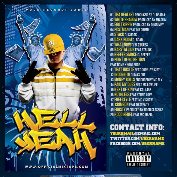 Mixtape / CD Cover Template - Hell Yeah