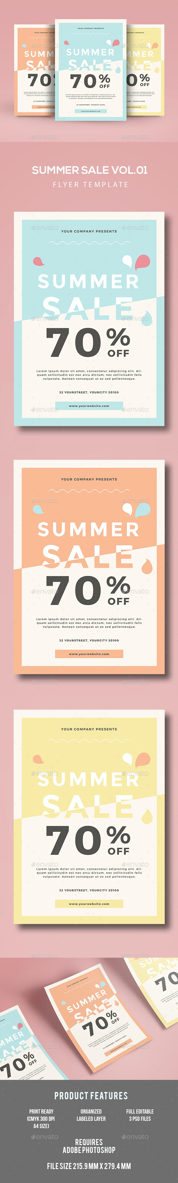 Summer Sale Flyer - Events Flyers