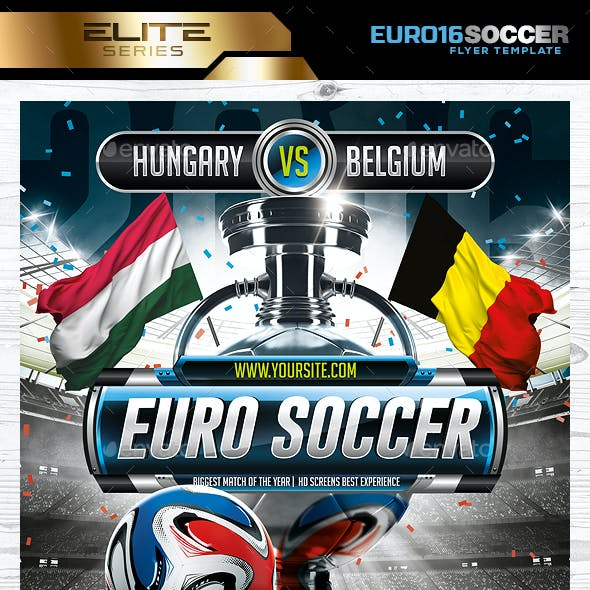 Euro Soccer 2016 poster