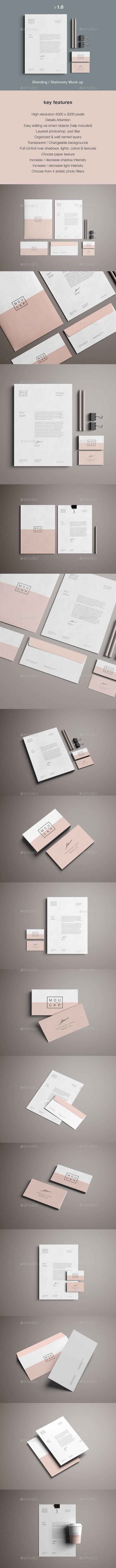 Stationery & Branding Mockup - Stationery Print