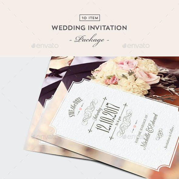 Wedding Package Stationery And Design Templates