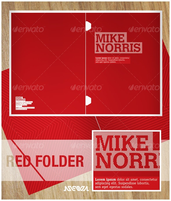 Red Folder 01 - Miscellaneous Print Templates