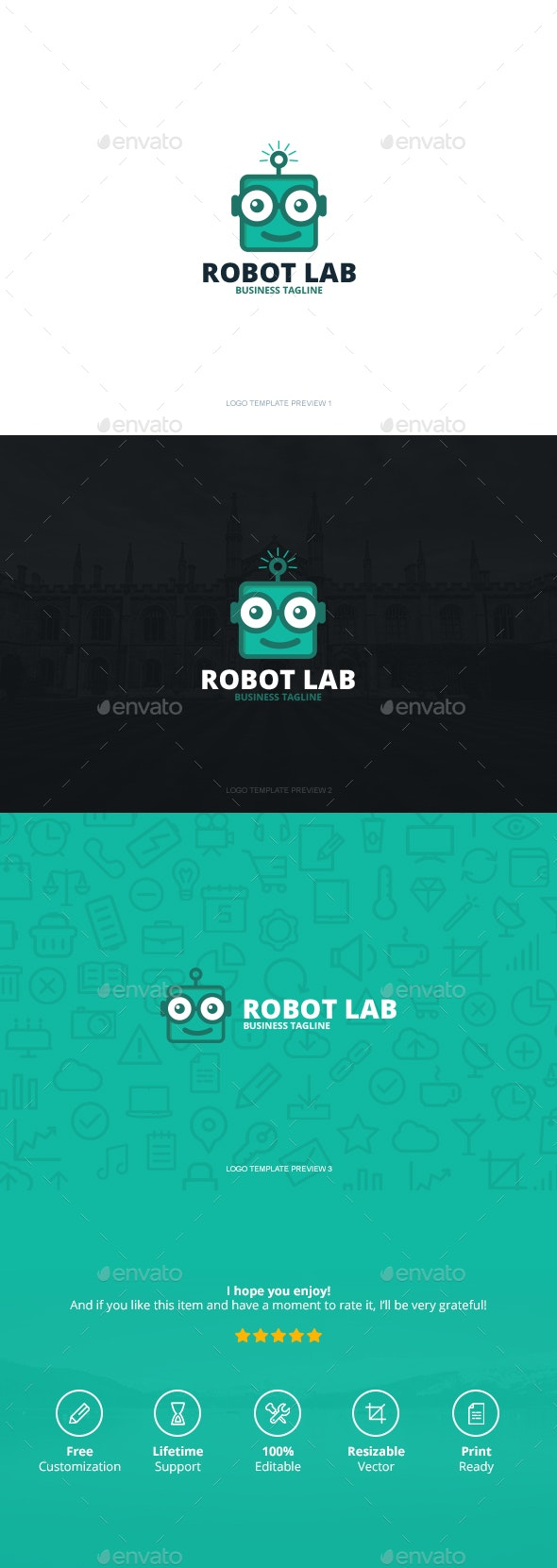 Robot Lab Logo by CreativeSquare | GraphicRiver
