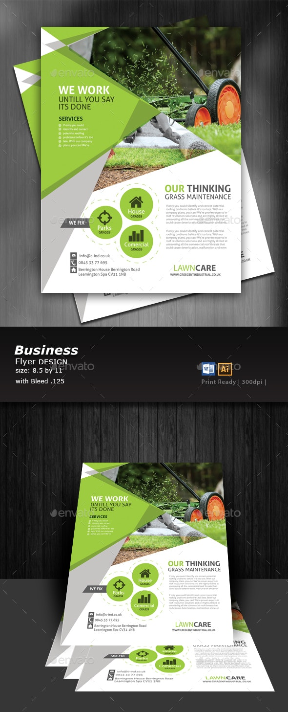 Lawn Care Flyer  - Corporate Flyers