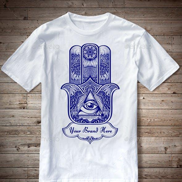 T-Shirt Illustration Hamsa Theme