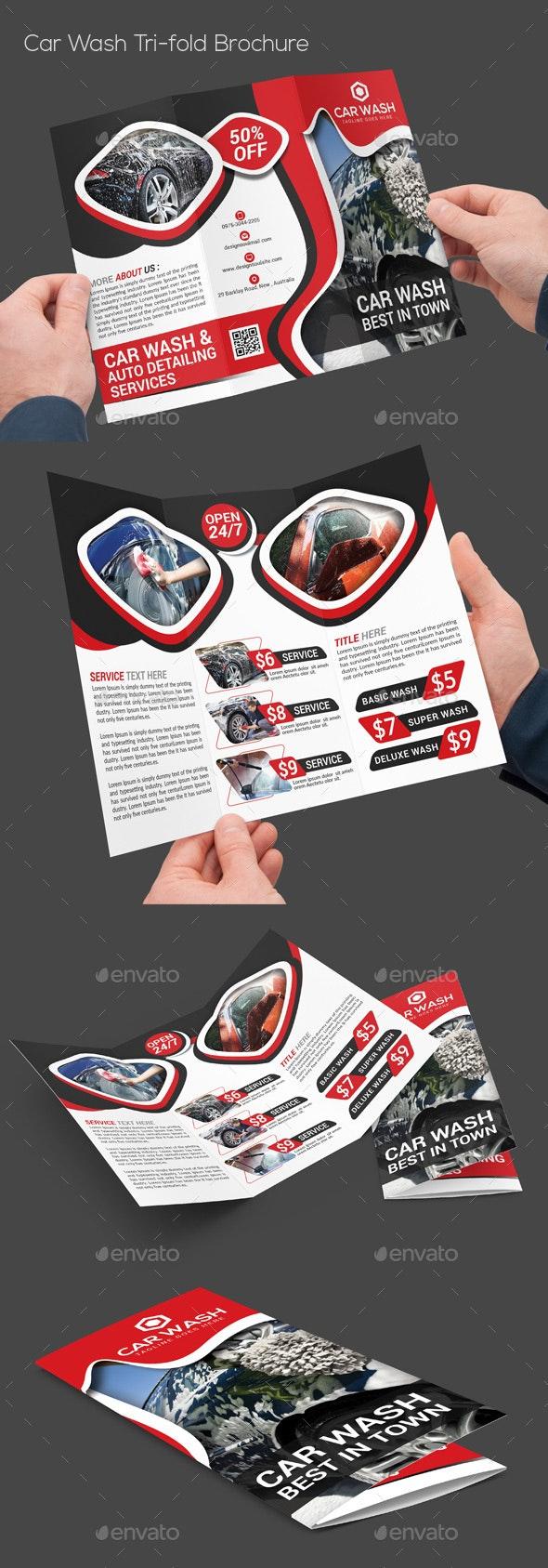 Car Wash Tri-fold Brochure - Corporate Brochures