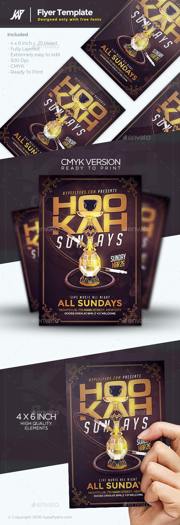 Hookah Days Flyer Template - Clubs & Parties Events