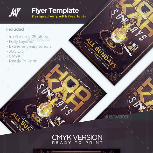 Hookah Flyer Graphics, Designs & Templates from GraphicRiver