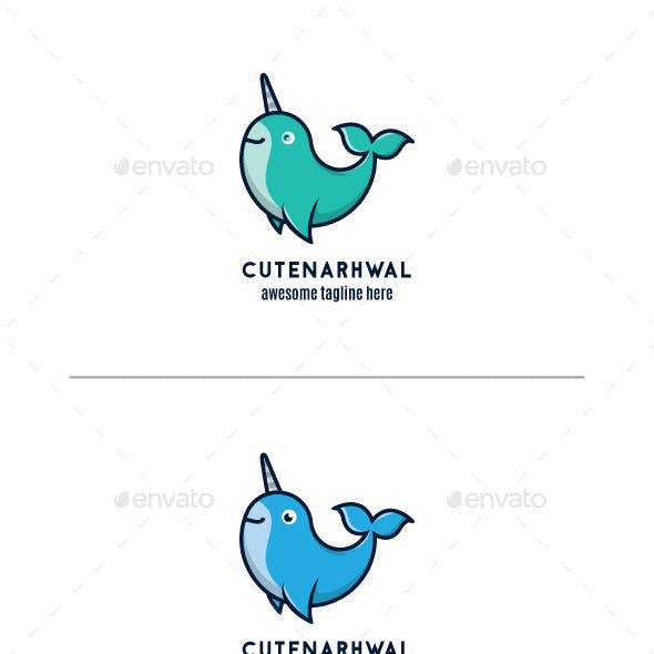 Narwhal Logo Mascot