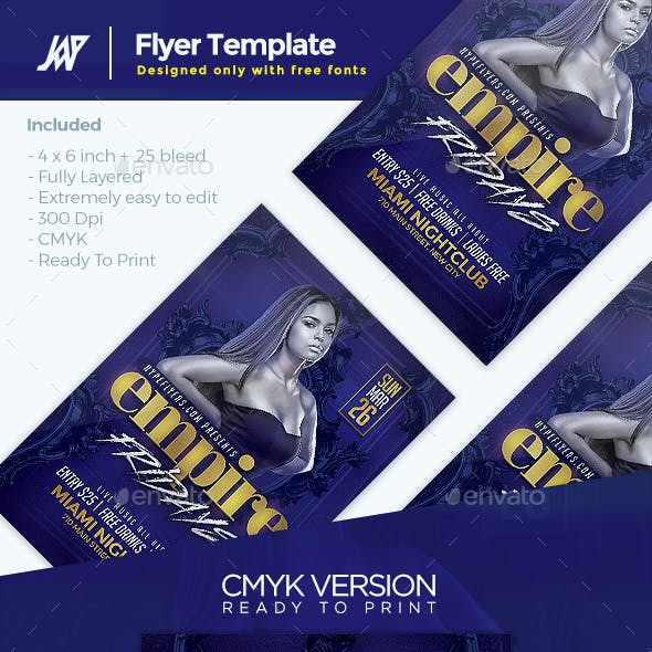Empire Days Party Flyer Template