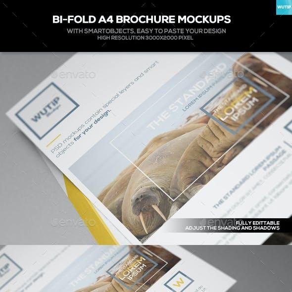 Bi-Fold A4 Brochure Mockups