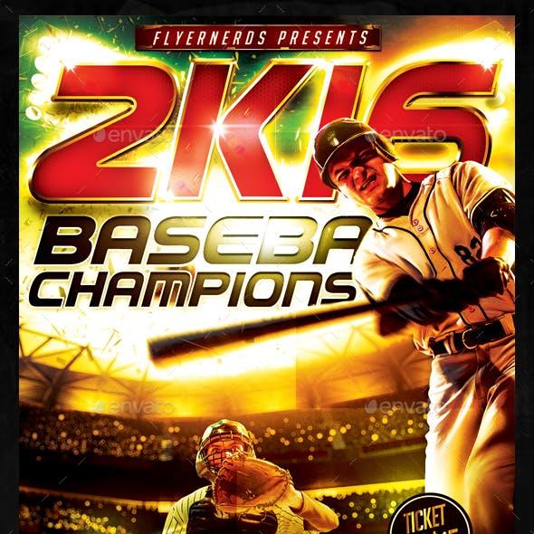 Baseball 2K16 Sports Flyer